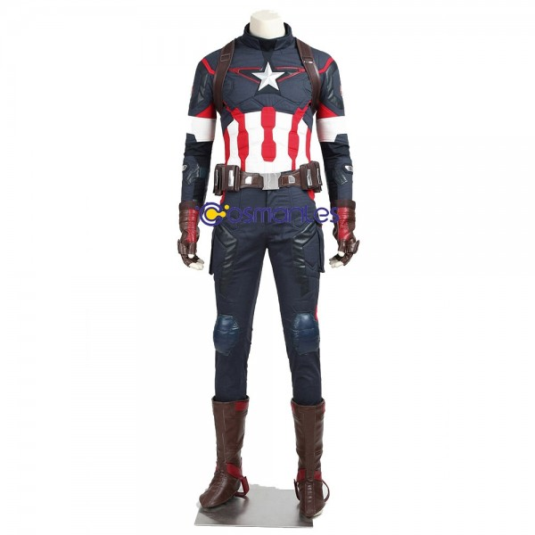 Steve Rogers Cosplay Costumes Captain America Avengers 2 Suit