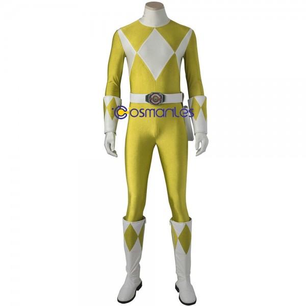 Yellow Ranger Cosplay Costume Mighty Morphin Power Rangers Yellow Suit