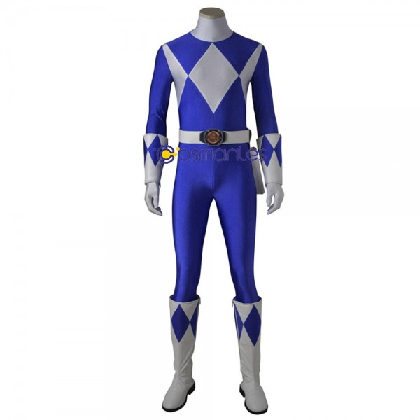 Blue Ranger Cosplay Costume Mighty Morphin Power Rangers Blue Cosplay Suit