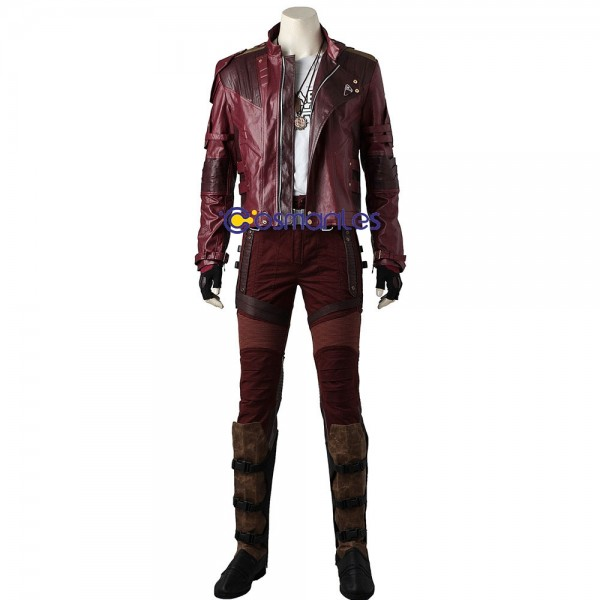 Star Lord Cosplay Costume Ver.2 Faux Leather Suit