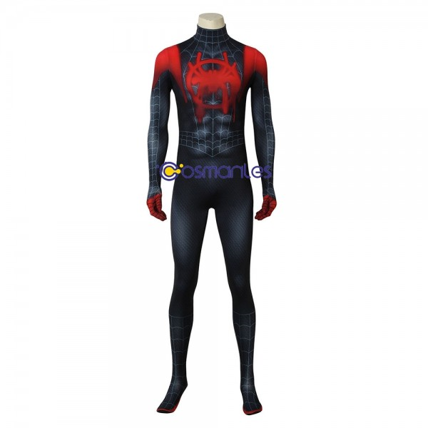 Ultimate Spider Suit Into Spider-Verse Miles Morales Cosplay Suit