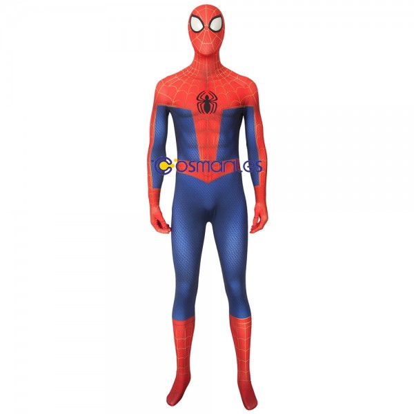 Spider-man Cosplay Suit Into the Spider-Verse Spandex Printed Cosplay Costume