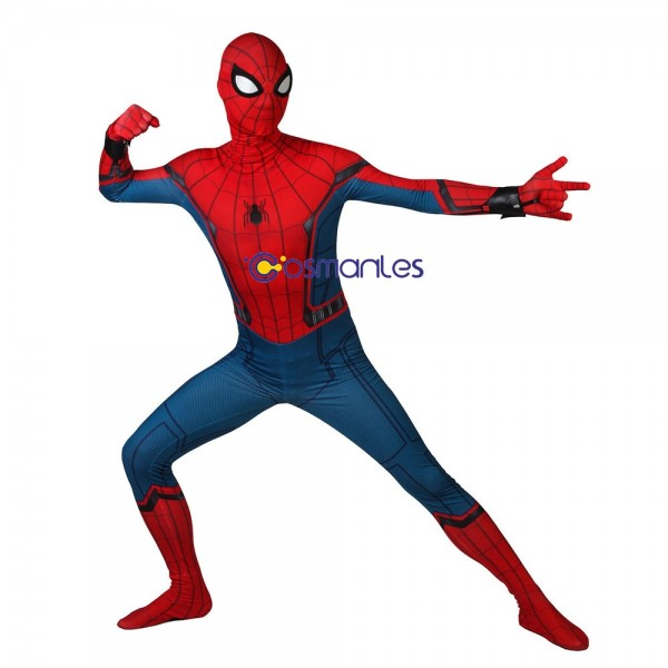 Spider-man Cosplay Suit Spider-man Homecoming Spandex Printed Cosplay Costume