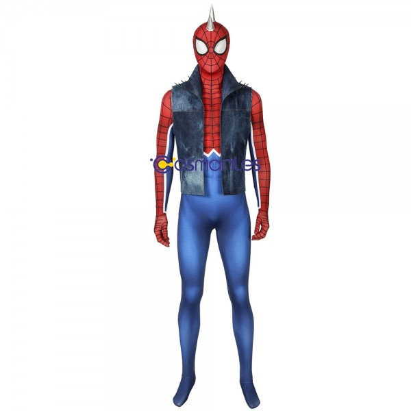 Hobart Brown Spider-Man Cosplay Suit Punk-Rock Spider-man Spandex Printed Cosplay Costume