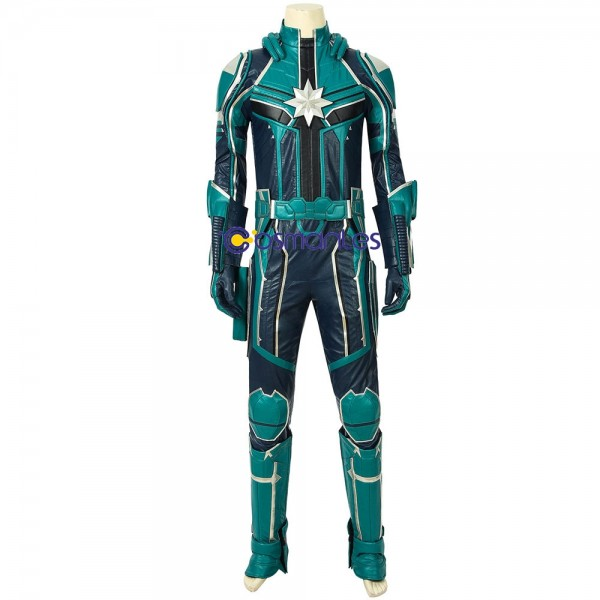 Captain Marvel StarForce Green Suits Yon-Rogg Cosplay Costume