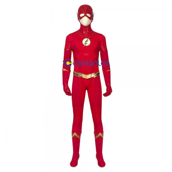 Barry Allen Costume The Flash Red Cosplay Suit Deluxe