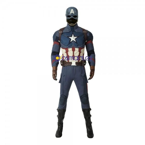 Captain America Costume Avengers Steve Rogers Cosplay Suit Wtj4395