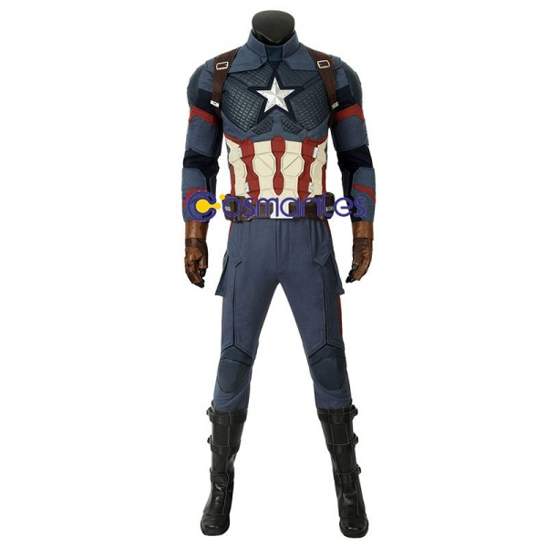 Captain America Suit Steve Rogers Endgame Cosplay Outfit Wtj4427