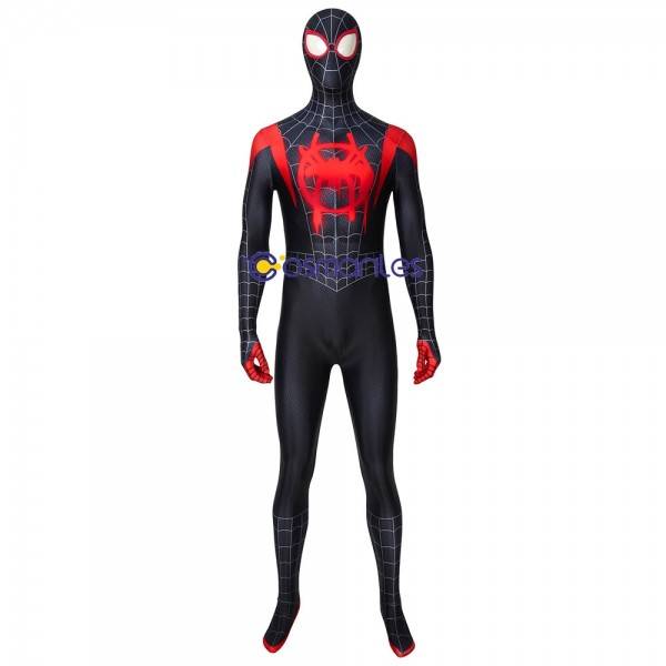 Spider-man Into The Spider Verse Miles Morales Cosplay Suits Deluxe
