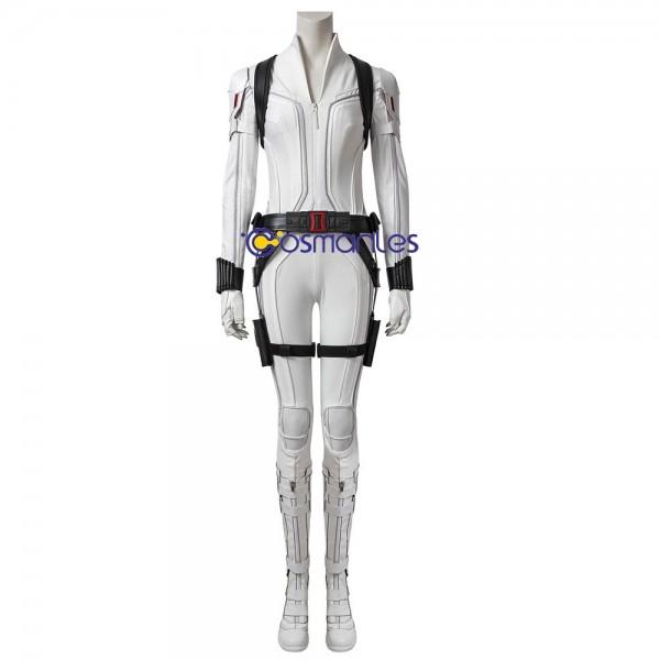 Black Widow White Suit 2020 The Black Widow Cosplay Costume Deluxe