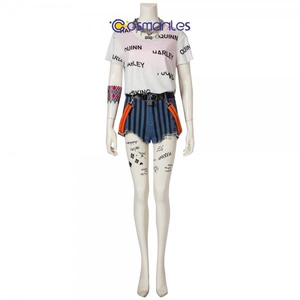 Harley Quinn Cosplay Costume Birds of Prey Harley Quinn Cosplay Suit