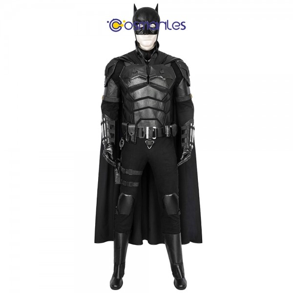 Batman 2021 Cosplay Costumes Halloween Leather Cosplay Batsuit By Cosmanles