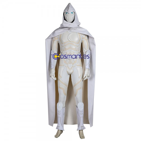 Moon Knight Cosplay Costume White Cloak Artificial Leather Cosplay Suit