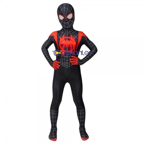 Kids Suit Miles Morales Spider-man Cosplay Costume