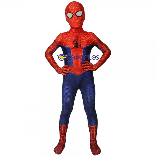 Kids Suit Spider-man Peter Parker Spandex Cosplay Costume