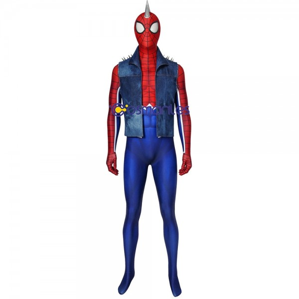 Hobart Brown Spider-Man Suit Ver.2 Punk-Rock Spidey  Cosplay Costume