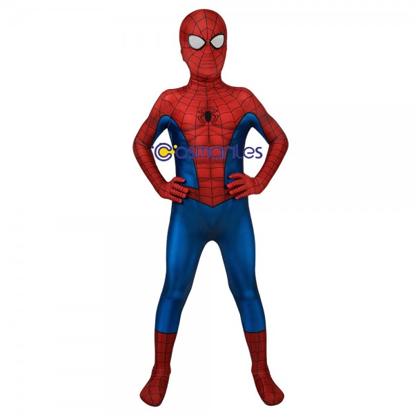 Spider-man Cosplay Costume For Children PS4 Classic Spider-man Printed Suit For Kids