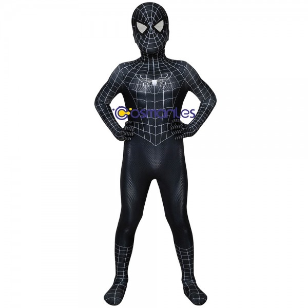 Kids Spider-Man 3 Venom Cosplay Costume Eddie Brock Spider-man Cosplay Suit
