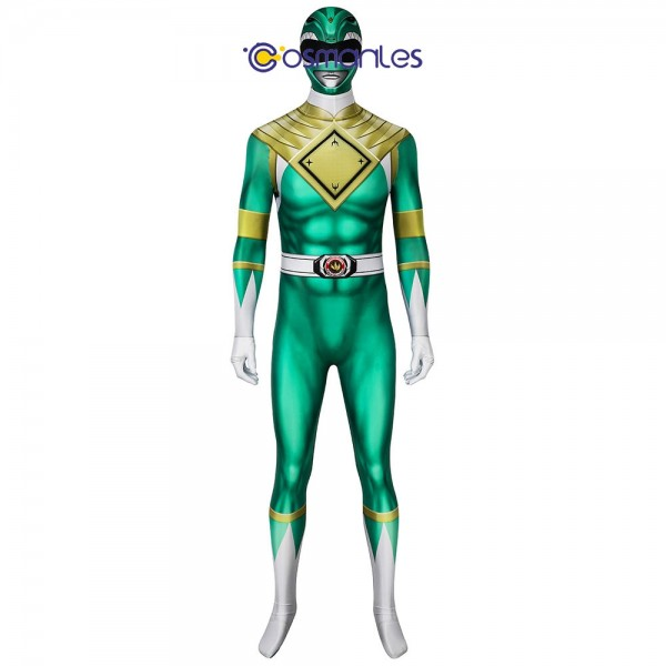 Green Ranger Spandex Cosplay Costume Power Rangers Cosplay Suit