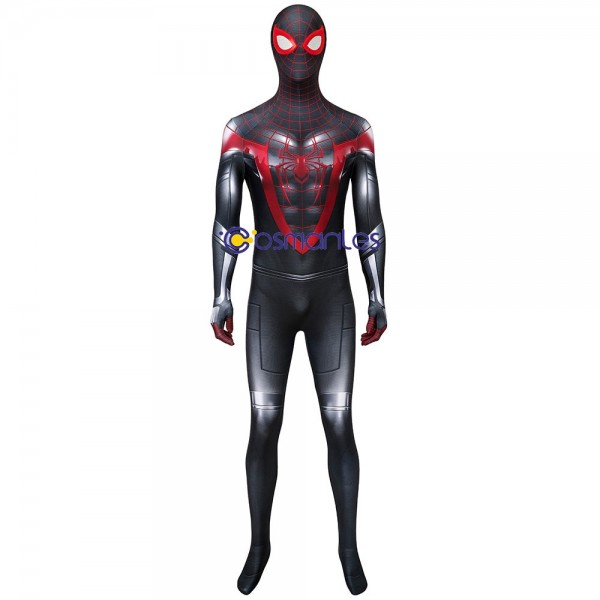Miles Morales Cosplay Suit Spider-man Miles Morales PS5 Printed Costume