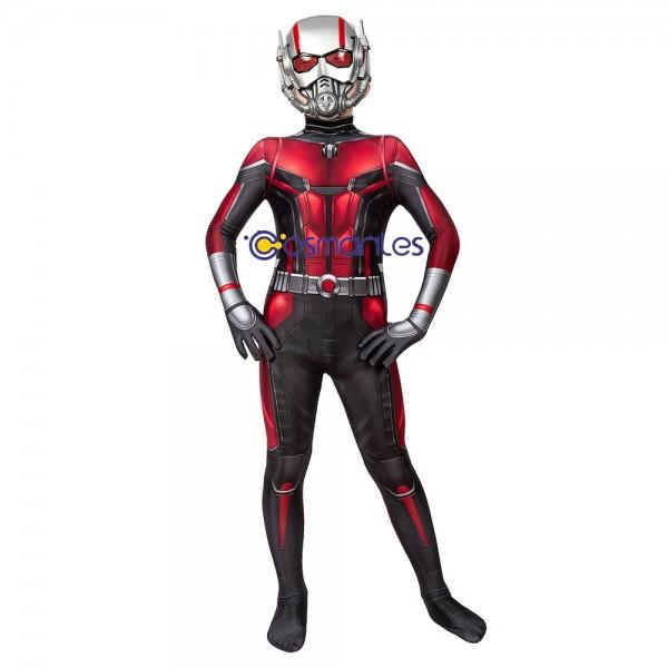 Kids Suit Antman Cosplay Suit Ant-man Spandex Printed Cosplay Costume