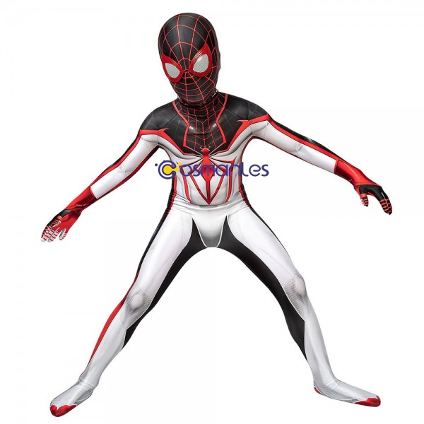 Kids Suit Miles Morales TRACK Spider-Man Cosplay Suit Spider-Man Spandex Printed Cosplay Costume