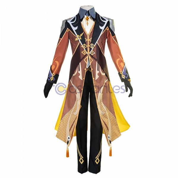 Genshin Impact Cosplay Costumes Zhongli Top Level Cosplay Suit