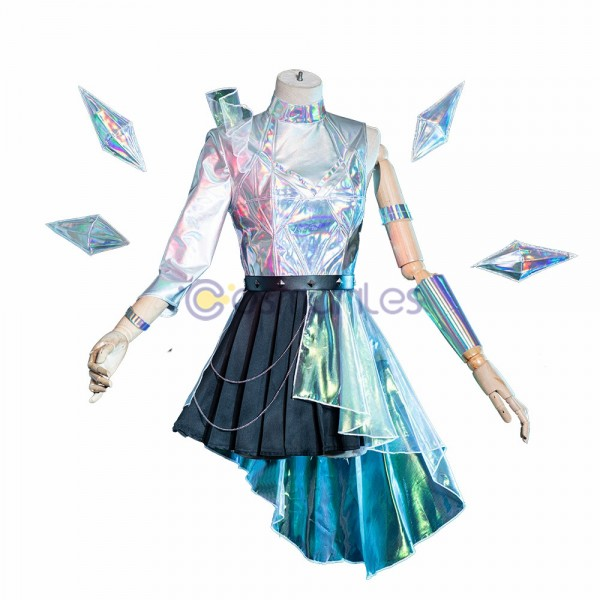 KDA All Out Ver.1 Cosplay Costumes Seraphine Top Level Cosplay Suit