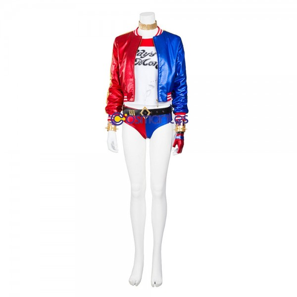 Harley Quinn Cosplay Costume Suicide Squad Deluxe Edition