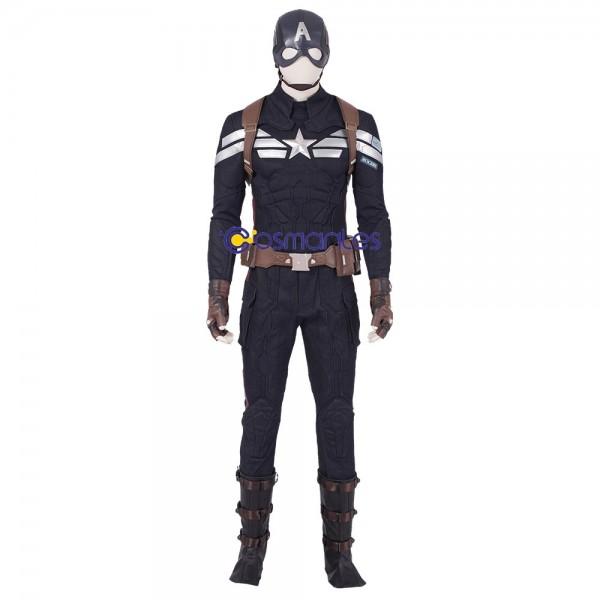 Captain America Cosplay Costume Avengers Endgame Steve Rogers Suit