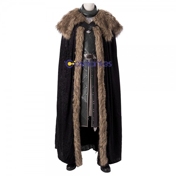 Jon Snow Costumes Game of Thrones S8 Cosplay King Of The North Suit Xzw190275
