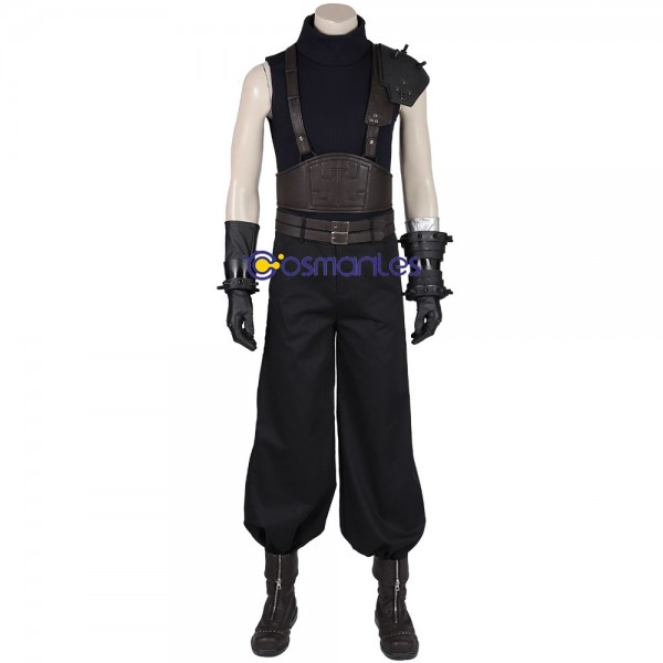 Final Fantasy VII Remake Cloud Cosplay Costumes Black Suit Xzw190287