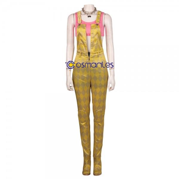 Harley Quinn Cosplay Costume Harley Yellow Bib Pants Cosplay Suit