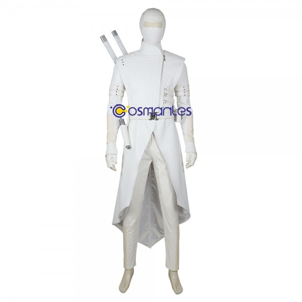 White Ninja Cosplay Costumes G.I Joe 3 Artificial Leather Suits
