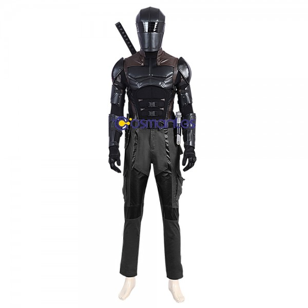 Snake Eyes Prestige Cosplay Costumes G.I Joe 3 Artificial Leather Suits