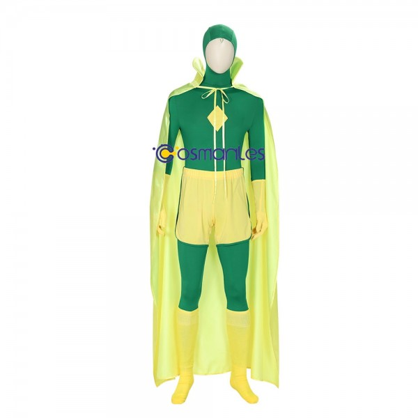 WandaVision Cosplay Costumes Vision Green Cosplay Suit