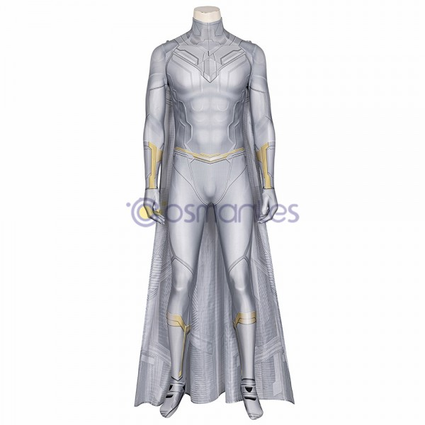 WandaVision Cosplay Costumes White Vision Spandex Cosplay Suit