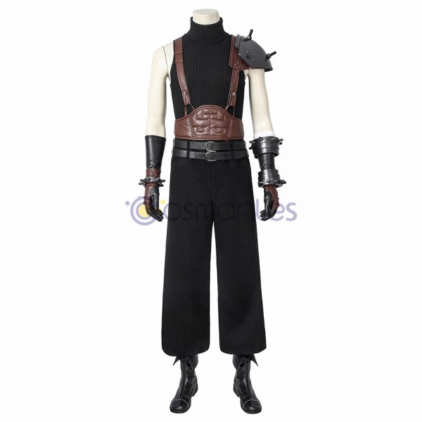 Cloud Strife Cosplay Costume Final Fantasy FFVII Black Suit