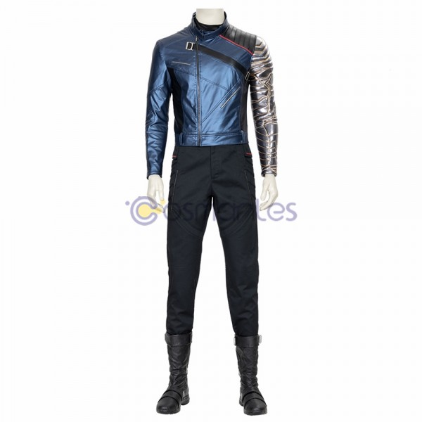 The Falcon and the Winter Soldier Cosplay Costumes Winter Soldier Leather Cosplay Suit